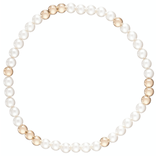 "Worthy Pattern 4MM Bead Bracelet ""Pearl"""