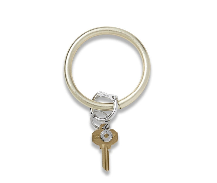 "Leather Big O Key Ring ""Gold Rush"""