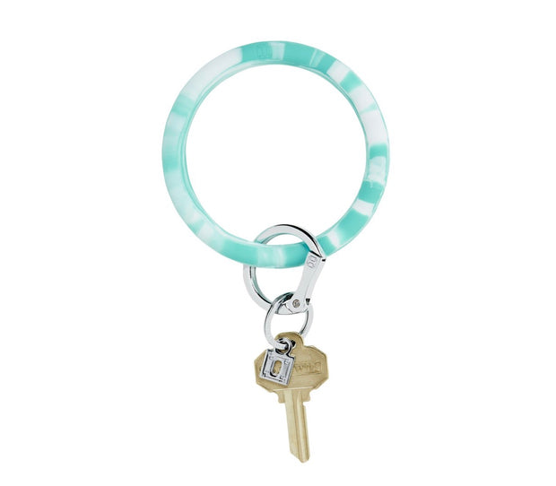 "Silicone Big O Key Ring ""In the Pool Marble"""