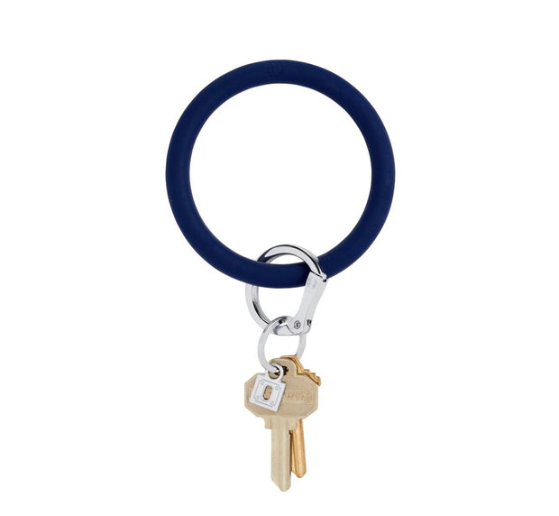 "Silicone Big O Key Ring ""Midnight Navy"""