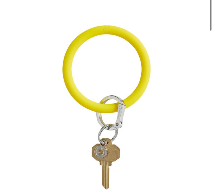 "Silicone Big O Key Ring ""Yes Yellow"""