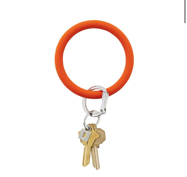 "Silicone Big O Key Ring ""Orange Crush"""