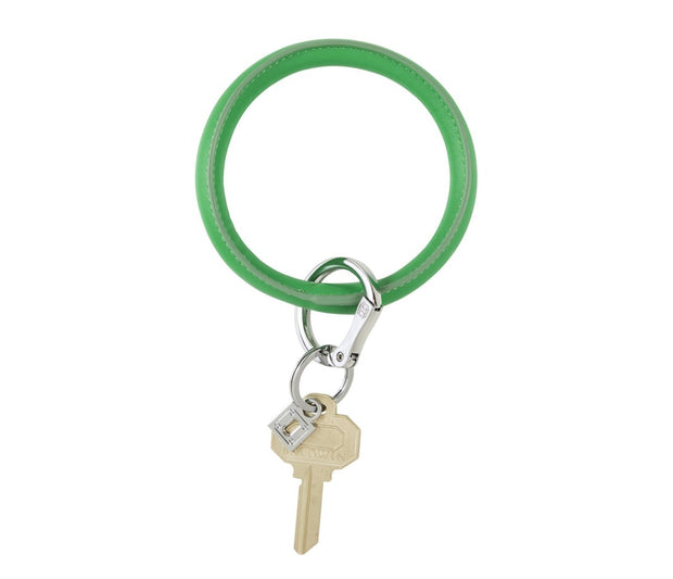 "Vegan Leather Big O Key Ring ""In the Grass"""