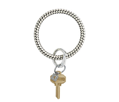 "Leather Big O Key Ring ""Black Riviera"""