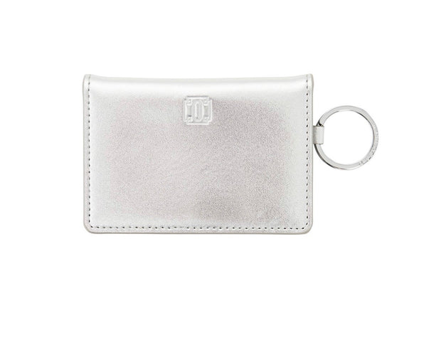 "Leather ID Case ""Silver"""