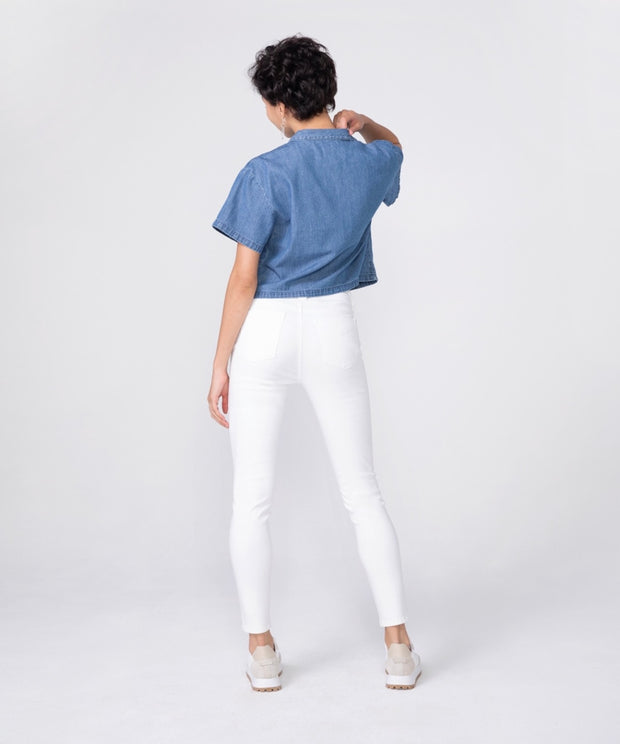"Olivia High Rise Skinny in ""Powder"""