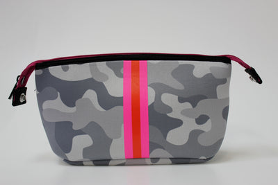 Erin White Camo Cosmetic Bag