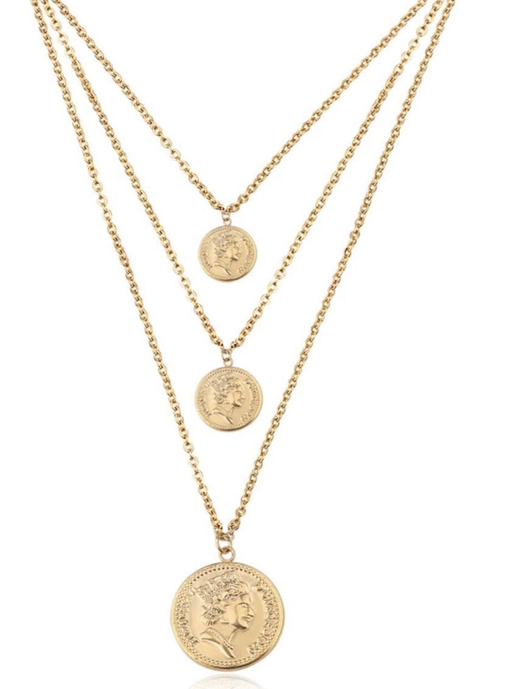 Pesos Triple Layer Necklace
