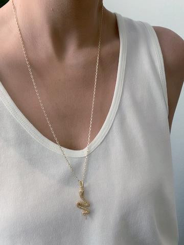 Charmer Snake Pendant Necklace
