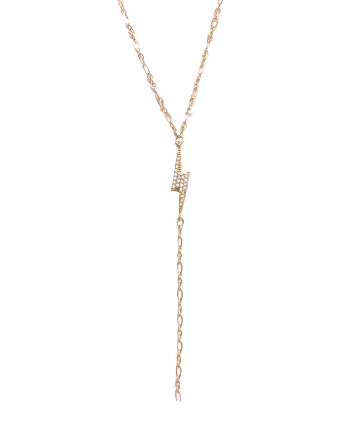 Lightning Lariat Necklace