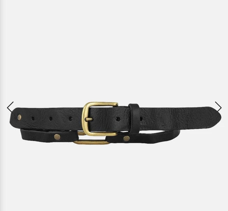 Krystel Chain Link Leather Belt