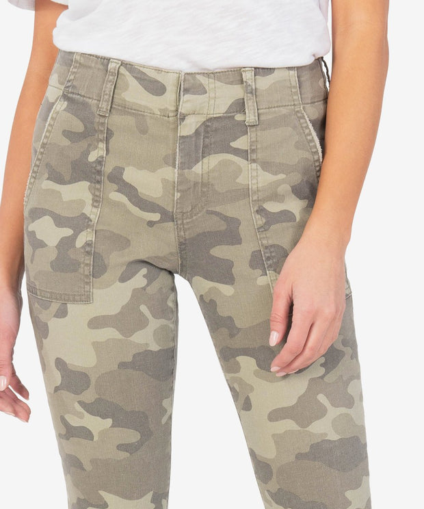Reese Ankle Straight Leg in Camo