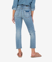 "Elizabeth High Rise Crop Regular Hem in ""Awake"""