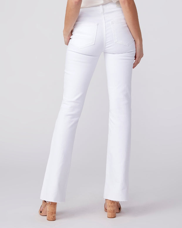 High Rise Laurel Canyon Raw Hem in Crisp White