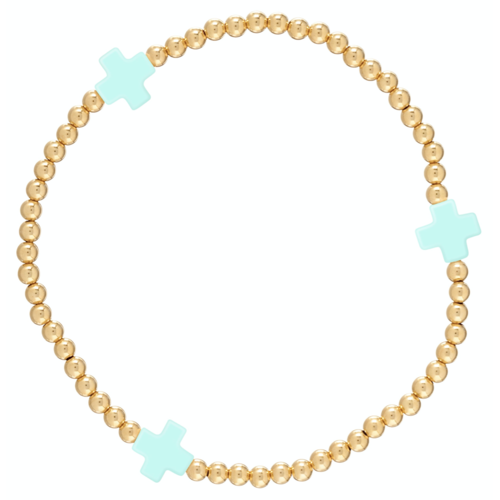 "Signature Cross Gold Bracelet ""Mint"""