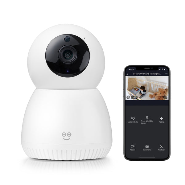 SCOPE 1080p HD Smart Auto-Tracking Security Camera, White