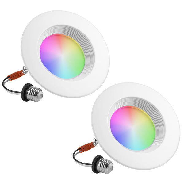 Smart Retrofit LED Recessed Lighting 6 inch Downlight PAR38 Color and Tunable White