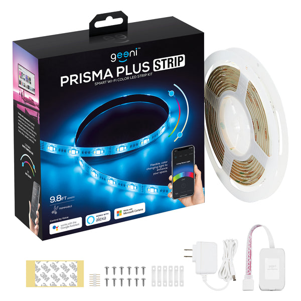 PRISMA PLUS Smart LED Light Strip Kit,RGBWW,Trimmable, 9.8ft