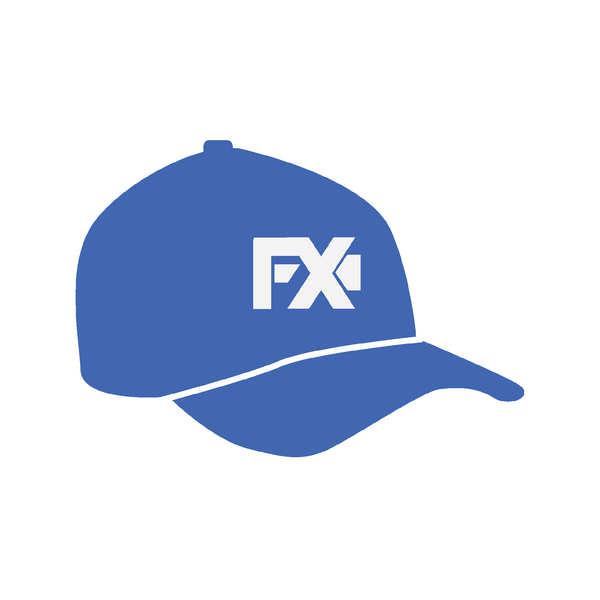 FX Wear Logo - A Blue baseball cap with letters FX on it for VFX and Digital Artists