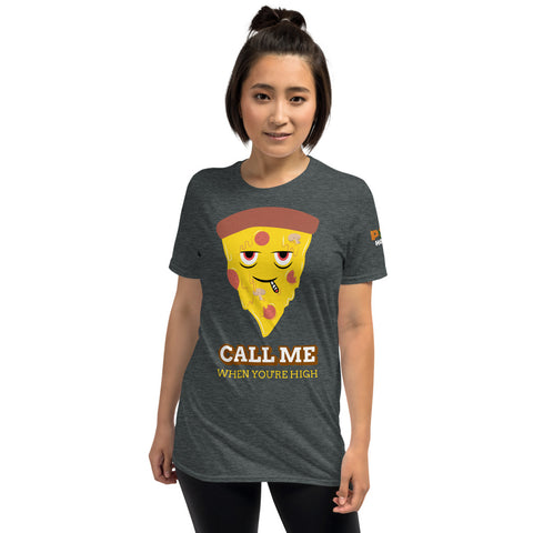 POTHOLES Pizza Flirting Short-Sleeve Unisex T-Shirt