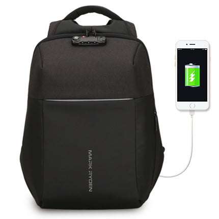 Mark ryden Anti-theft Backpack with USB charger