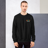 POTHOLES Embroidered Crew Neck Sweater