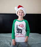 UGLY SWEATER JINGLE BELLS GREEN RAGLAN