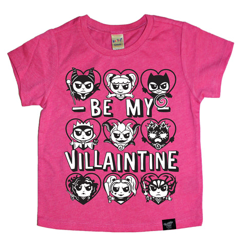 VILLAINTINE (GIRL CHARACTERS) PINK TEE