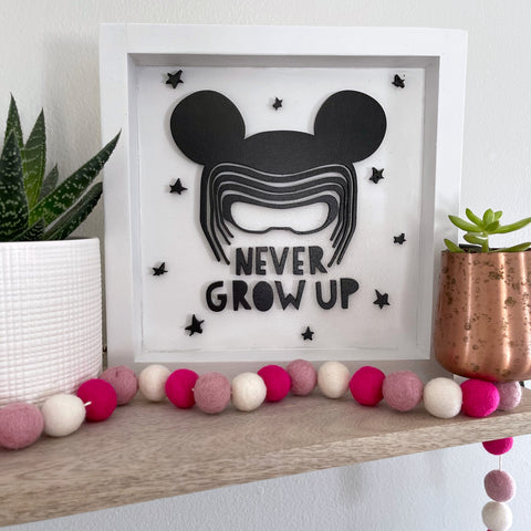 NEVER GROW UP FARMHOUSE SIGN