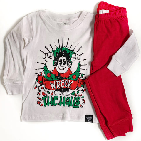 WRECK THE HALLS PAJAMA SET