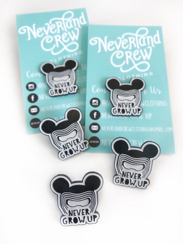 NEVER GROW UP PINS