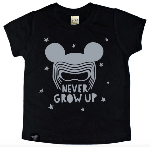 NEVER GROW UP BLACK TEE