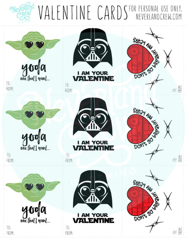 GALAXY VALENTINE CARDS INSTANT DOWNLOAD