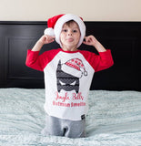 UGLY SWEATER JINGLE BELLS RED RAGLAN