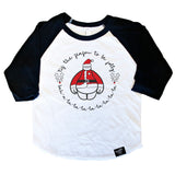 BE JOLLY BLACK RAGLAN