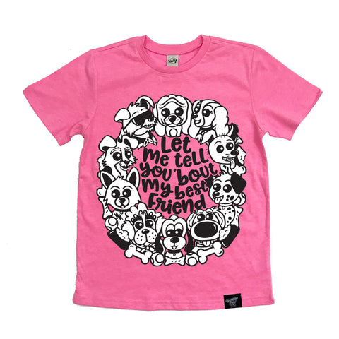 BEST FRIEND PINK TEE
