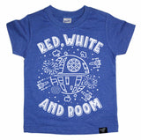 AND BOOM BLUE TEE