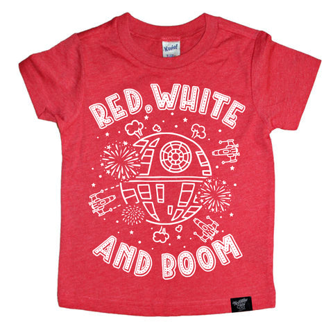 AND BOOM RED TEE