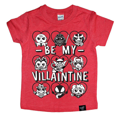 VILLAINTINE (BOY CHARACTERS) RED TEE