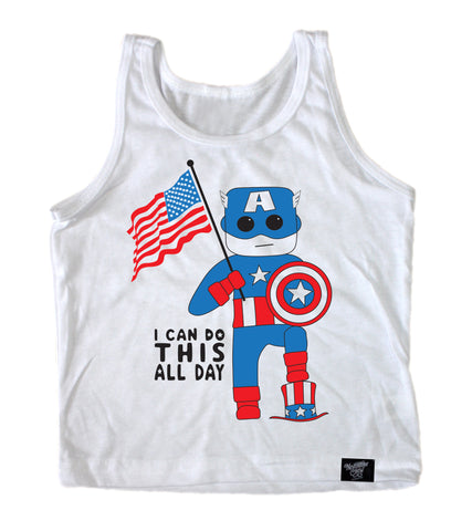 USA ALL DAY WHITE TANK