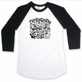 BE A CAT BLACK RAGLAN