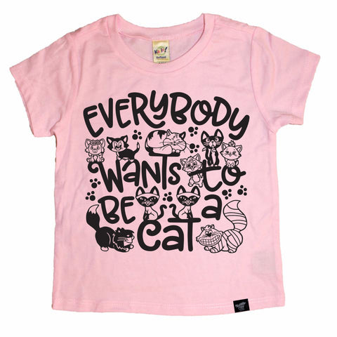 BE A CAT PINK TEE