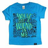 FRIEND IN ME BLUE TEE