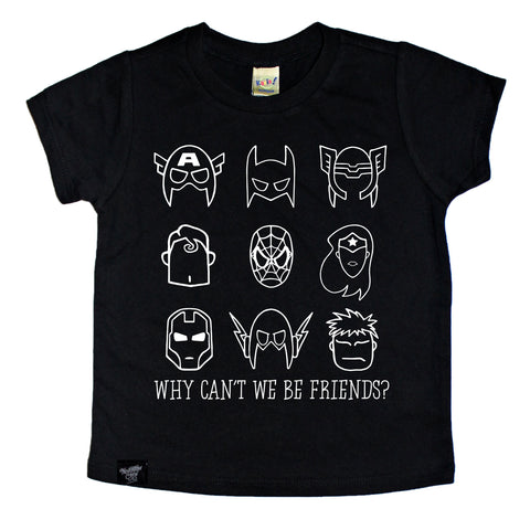 LIMITED EDITION BE FRIENDS BLACK TEE