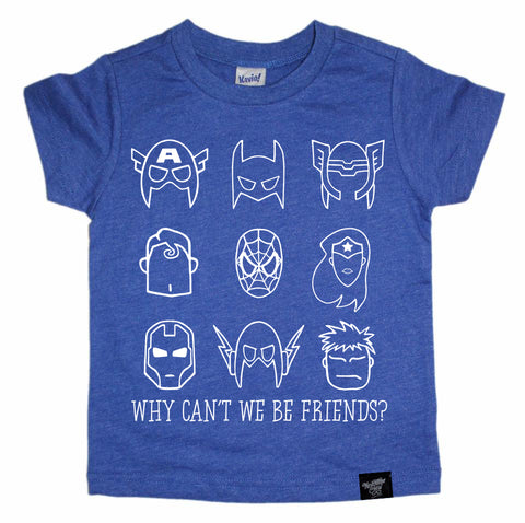 BE FRIENDS COBALT TEE