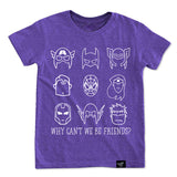 BE FRIENDS PURPLE TEE