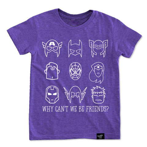 LIMITED EDITION BE FRIENDS PURPLE TEE