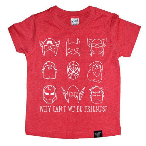 BE FRIENDS RED TEE