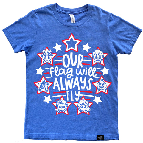 FROZEN FLAG BLUE TEE