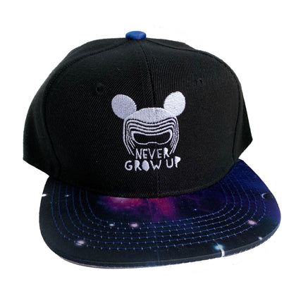 NEVER GROW UP SNAPBACKS